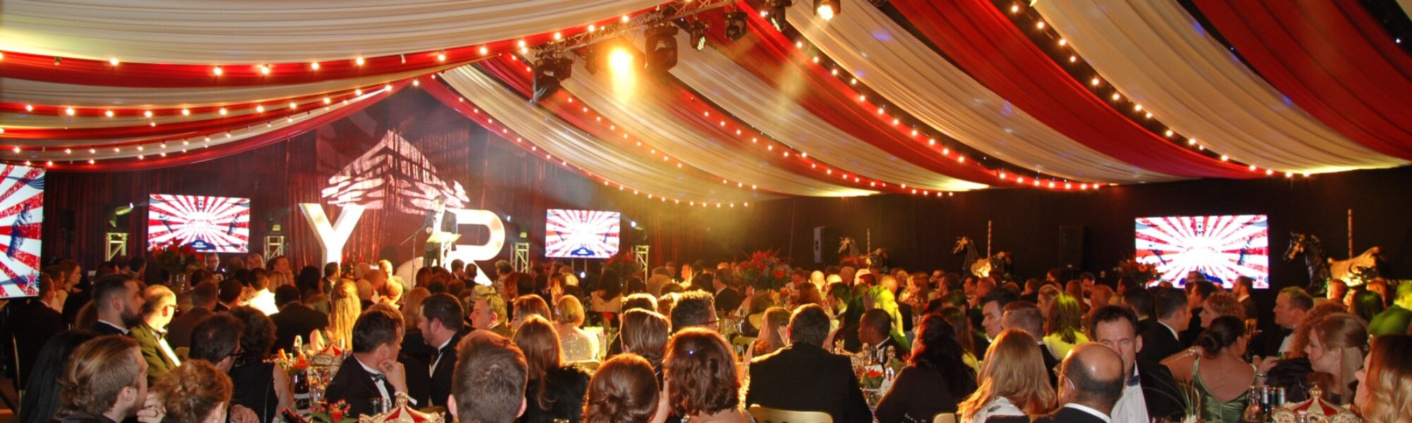 12m Frame Marquee with coloured lining