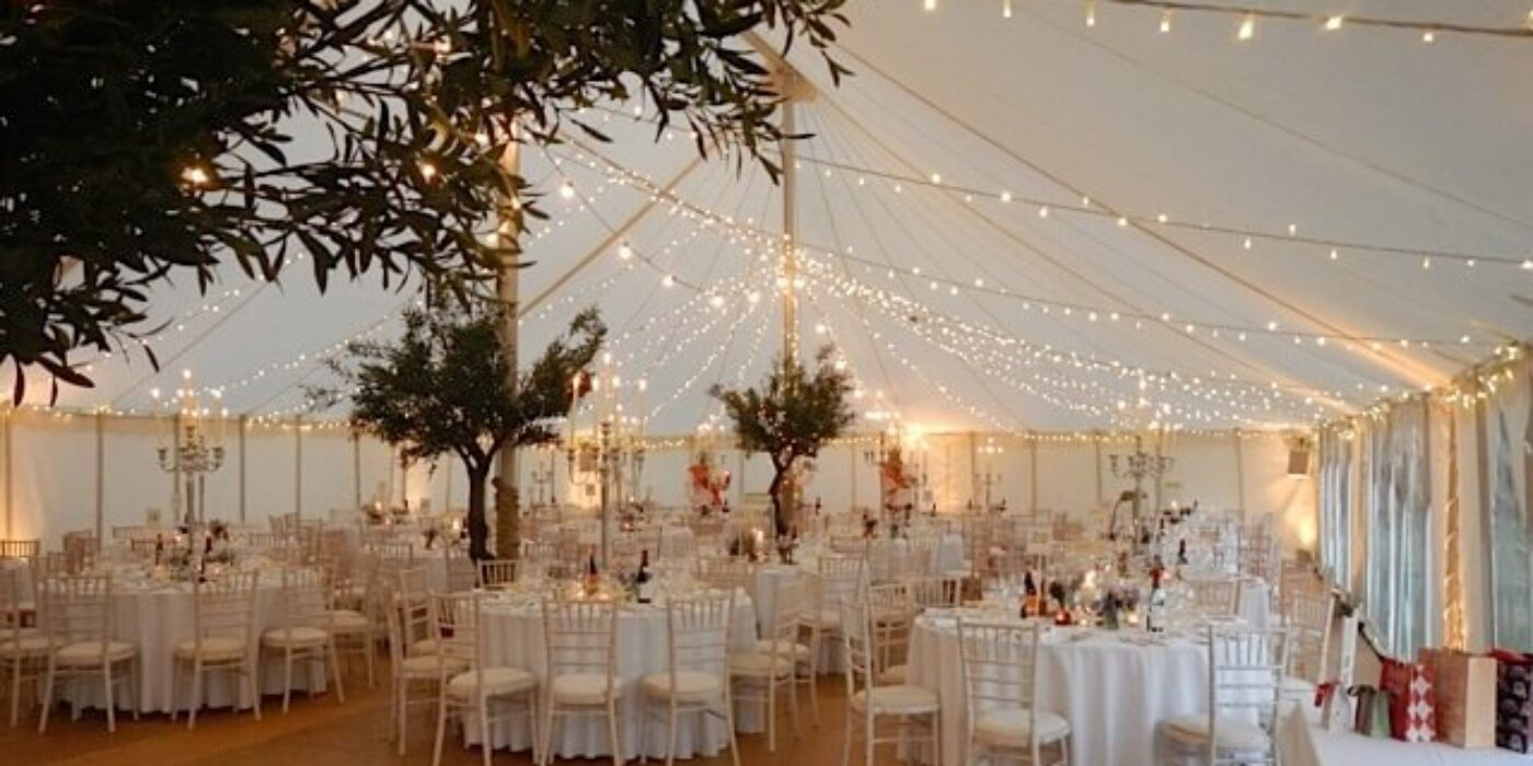 Marquee and chairs