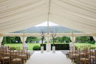 Frame Marquee with clear gable end