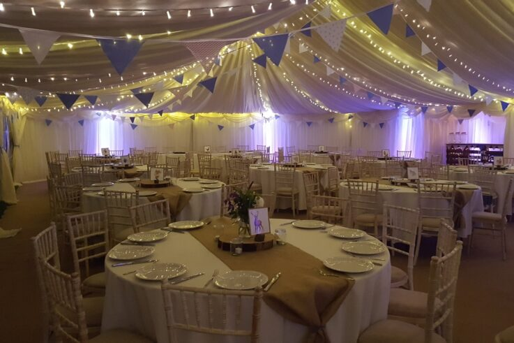 inside one of our marquee