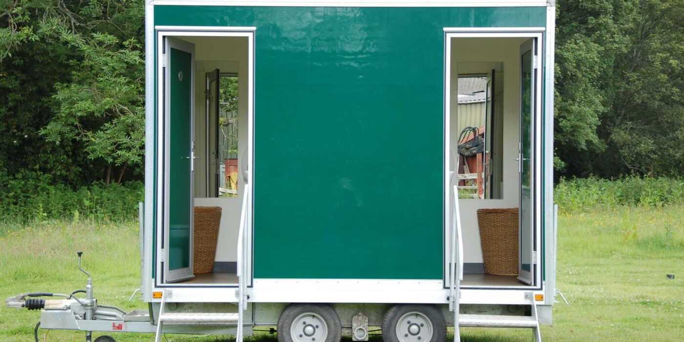 Carron Marquees - Green portable toilet