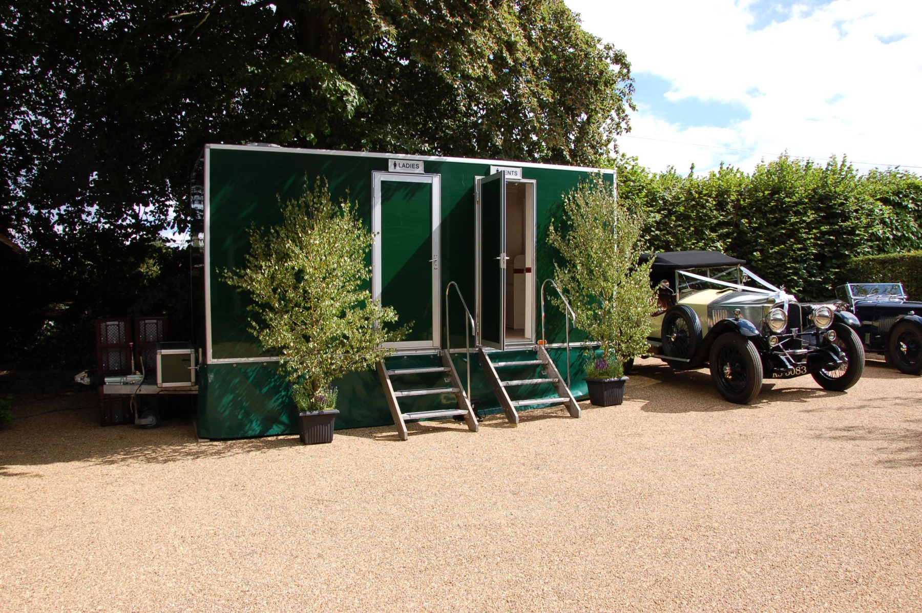 Carron Marquees - Ladies and gents portable toilets