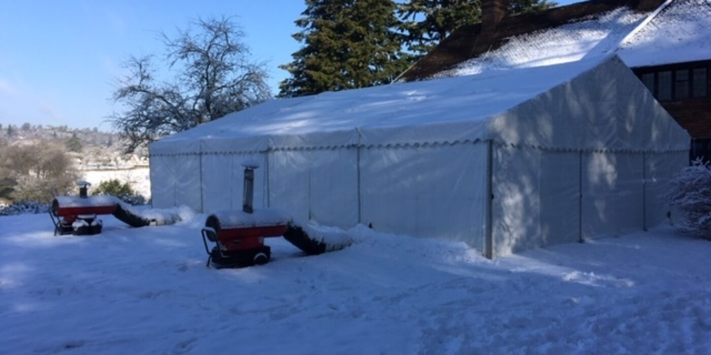 9m Frame Marquee - Heater