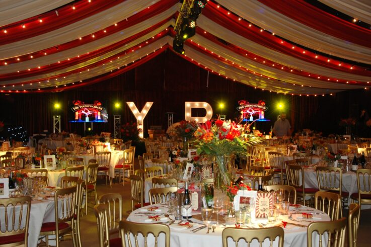 How to style a marquee for a special birthday celebration?