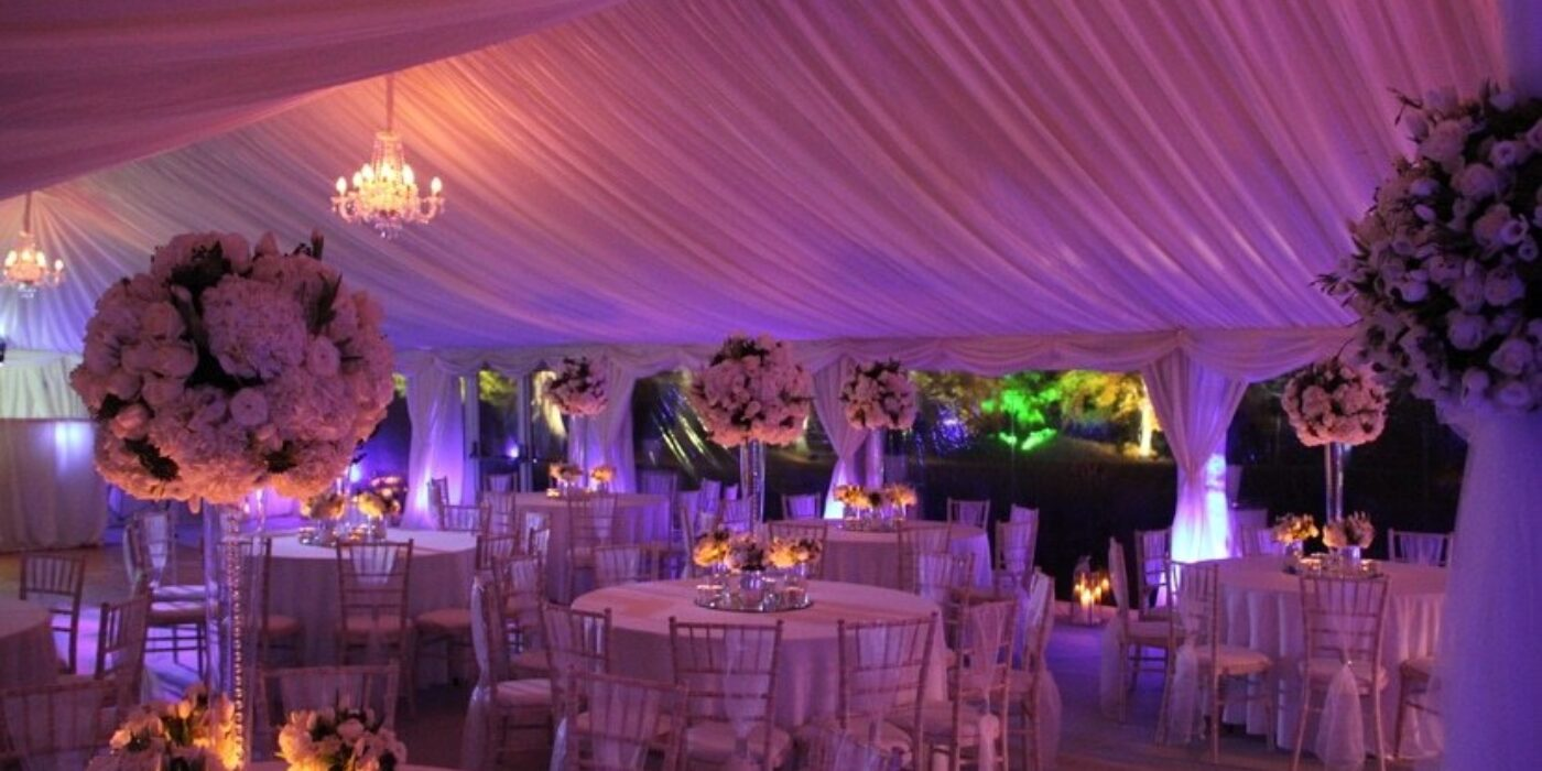 Frame chandeliers and uplighters