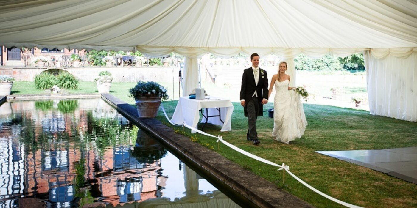 Marquee Over Pond