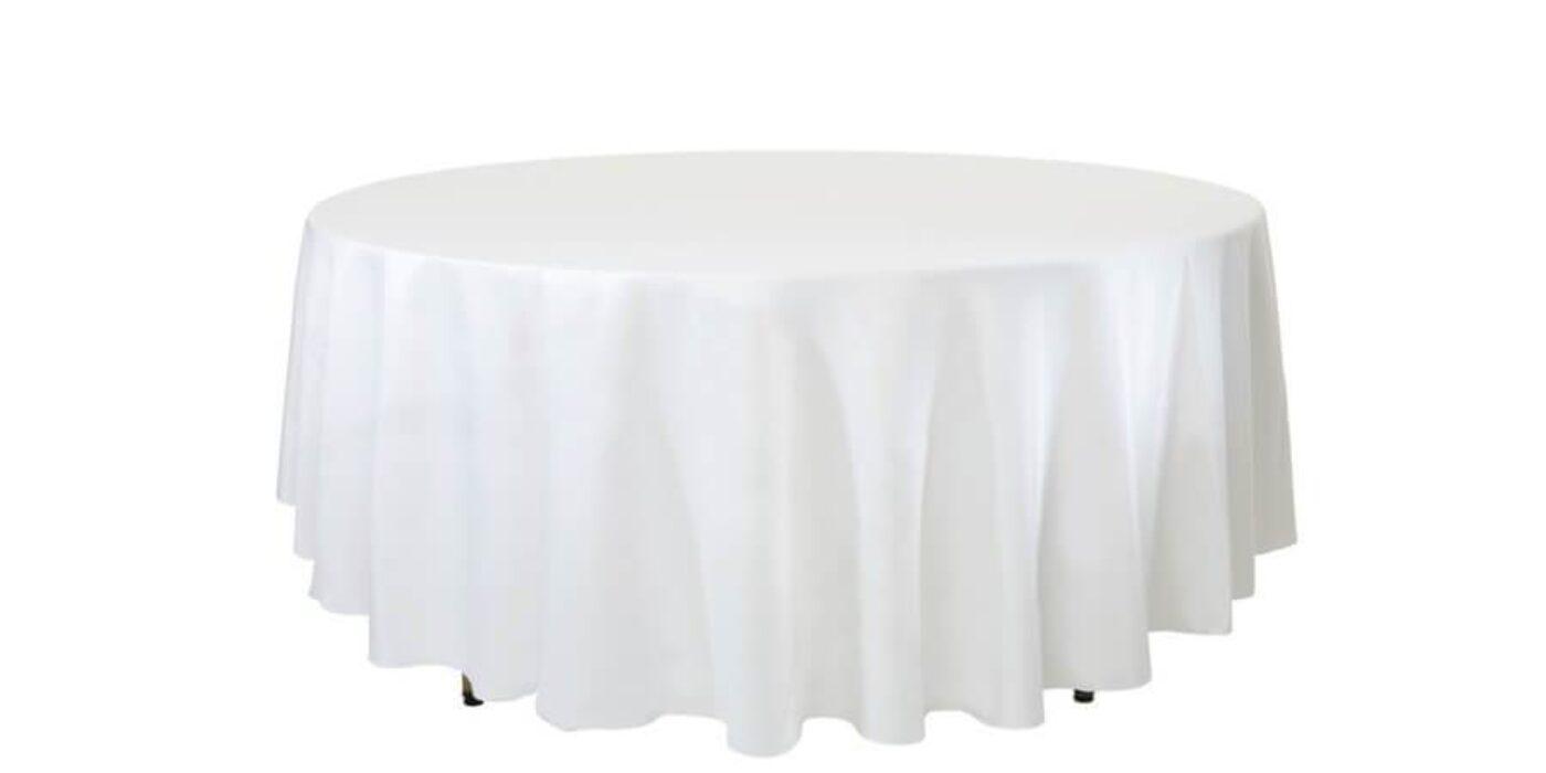 round tables - white