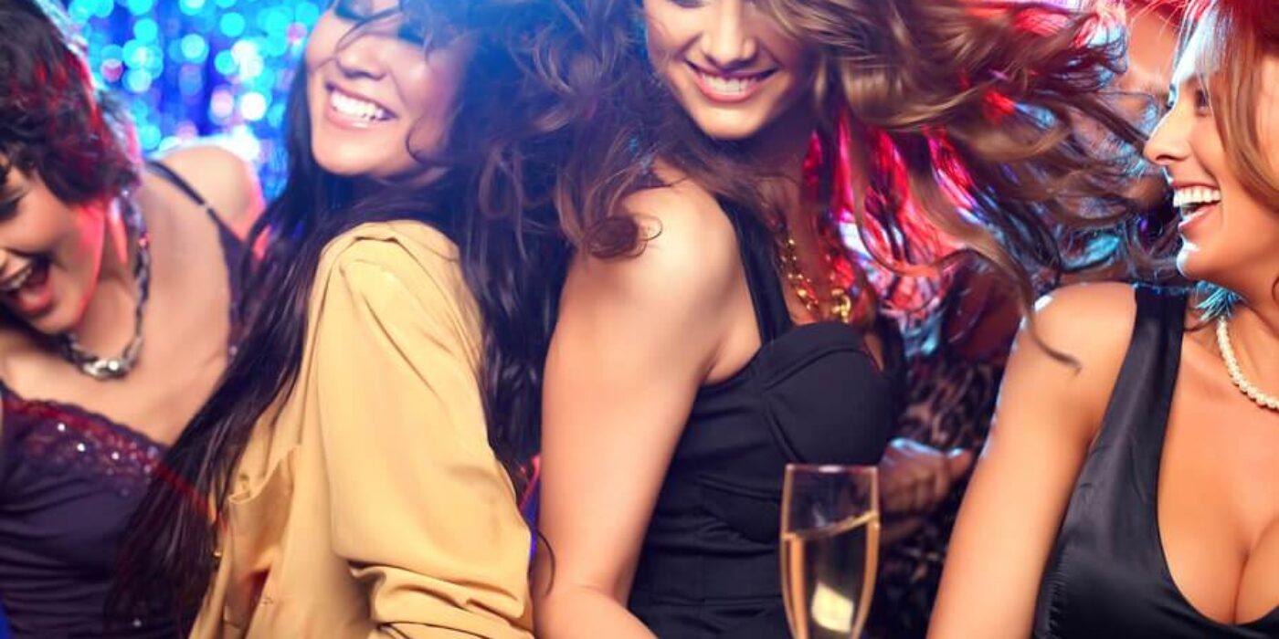 women on dance floor