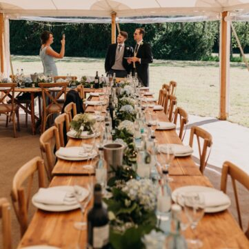 Rustic Trestle Tables and Crossback Chairs